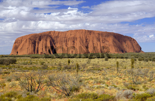 Ayers Rock, Uluru, in Abendsonne, Northern Territory, Australien