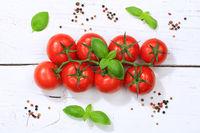 Tomaten Tomate rot Gemüse von oben