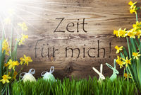 Sunny Easter Decoration, Zeit Fuer Mich Means Time For Me