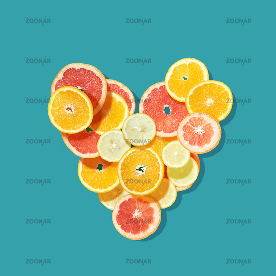 Fresh fruits heart