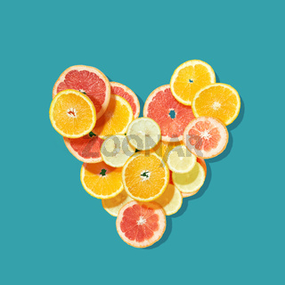 Fresh fruits heart