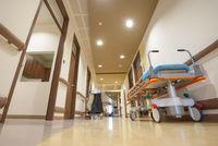 Hospital Corridor Litter Bed