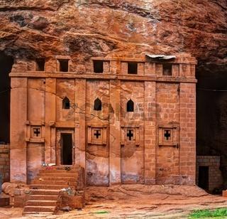 Bete Abba Libanos rock-hewn church, Lalibela Ethiopia