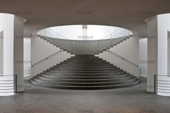 Staircase in the art museum Bonn, architect Axel Schultes, Bonn, North Rhine-Westphalia, Germany