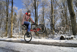 BMX Flatland im Winter