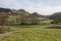 Autumn landscape around Gnadental, Germany