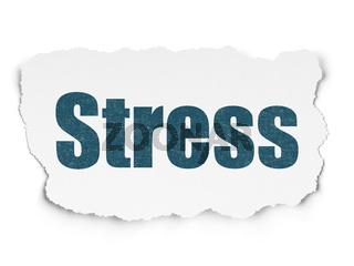 Medicine concept: Stress on Torn Paper background