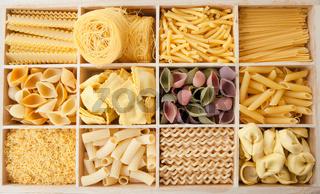 Verschiedene Nudelsorten