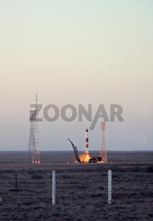 Russian Progress Rocket Launch