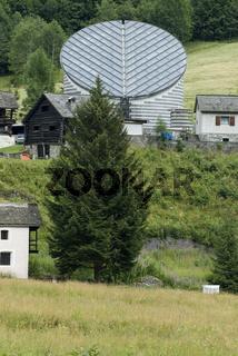 Aussenansicht der Kirche San Giovanni Battista, Mogno Tessin Schweiz