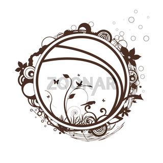 dekoratives Design 2 braun