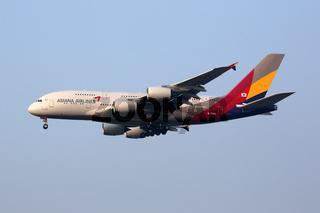 Asiana Airlines Flugzeug Airbus A380 Flughafen Seoul Incheon