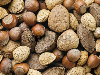 assorted mixed nuts food background