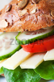 Nahaufnahme eines Käse-Sandwich