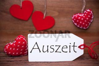 Read Hearts, Label, Auszeit Means Downtime