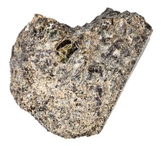 raw peridotite stone isolated on white