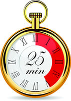 mechanical watch timer 25 minutes