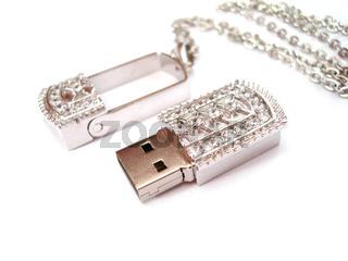 beautiful USB flash on white background