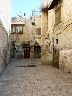 Gasse in der Altstadt von Jerusalem