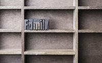 Wooden Letter Family