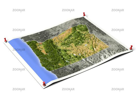 Oregon on unfolded map sheet.