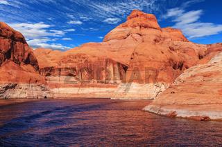 The amazing coast from orange sandstone