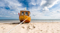 Fishing boat on the Baltic Sea beach