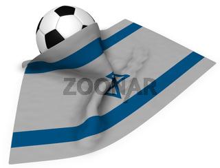 fußball und israelische flagge - 3d illustration