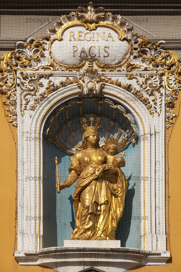 Madonna and Child above the entrance of the main building of University, Bonn, Germany