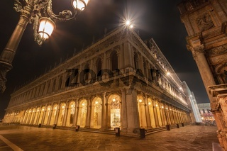 Piazza San Marco by night, VENICE, ITALY