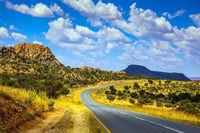Asphalt road in Namibia