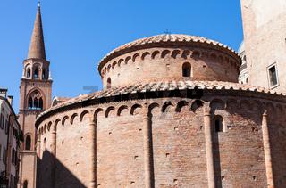 Rotonda di san lorenzo and belltower of Basilica
