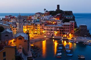 Morning in Historical Village Vernazza, Cinque Terre, Italy