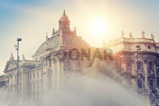 Stachus fountain in Munich