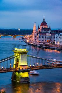 Budapest Parliament at twilight