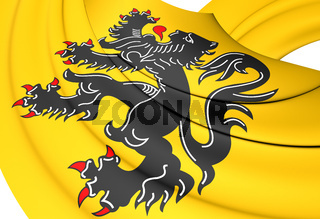 Flag of Flanders Region, Belgium. 3D Illustration.