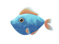 turquoise comic fish