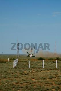 Soyuz Spacecraft Launch From Baikonur Cosmodrome