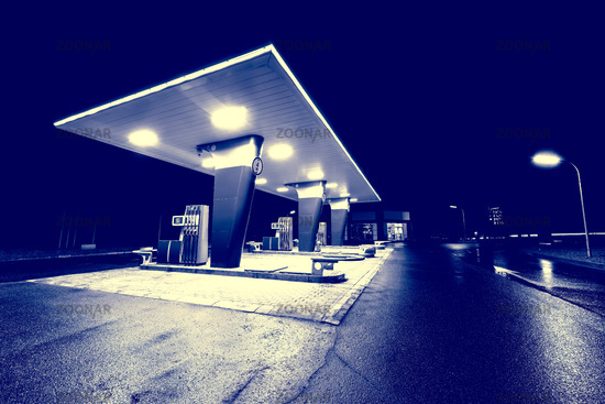Territory of the gas station.