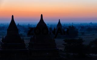 Bulethi Pagoda at sunrise