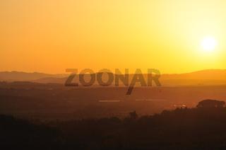 Sunset in chiantishire