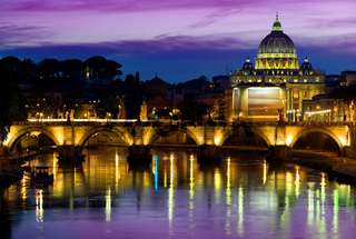 Purple sky and Vatican