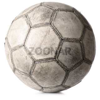 old football ball isolated on white