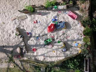 Sandkasten Draufsicht