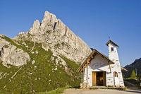 Chapel on the Falzarego pass