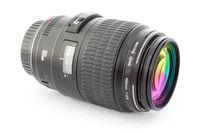 Black camera lens for DSLR