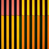 Farbige Gebäudefassade