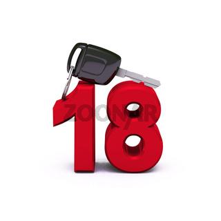 Endlich den Führerschein - Rot 18