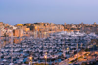Beautiful yachts in harbour,Three Cities,Malta