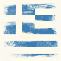 Grunge flag of Greece